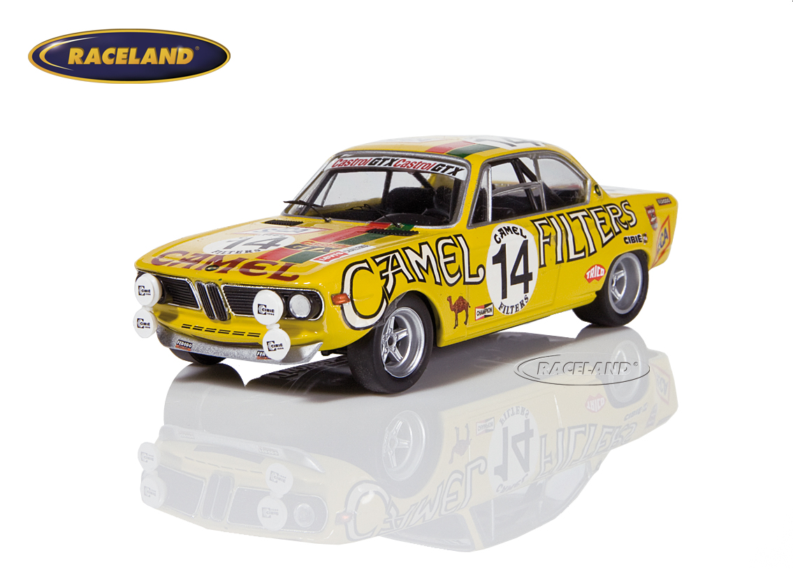 BMW 2800 CS Yellow Racing Team 24H Spa 1972 Toussaint/Haxhe