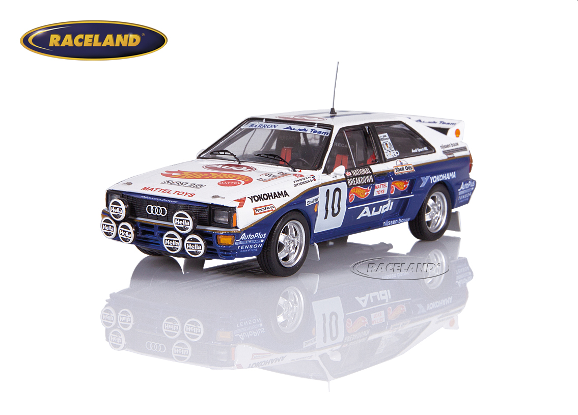 Audi Quattro A2 Hotwheels 8° National Breakdown Rallye GB 1987 Bosch/Hodgson