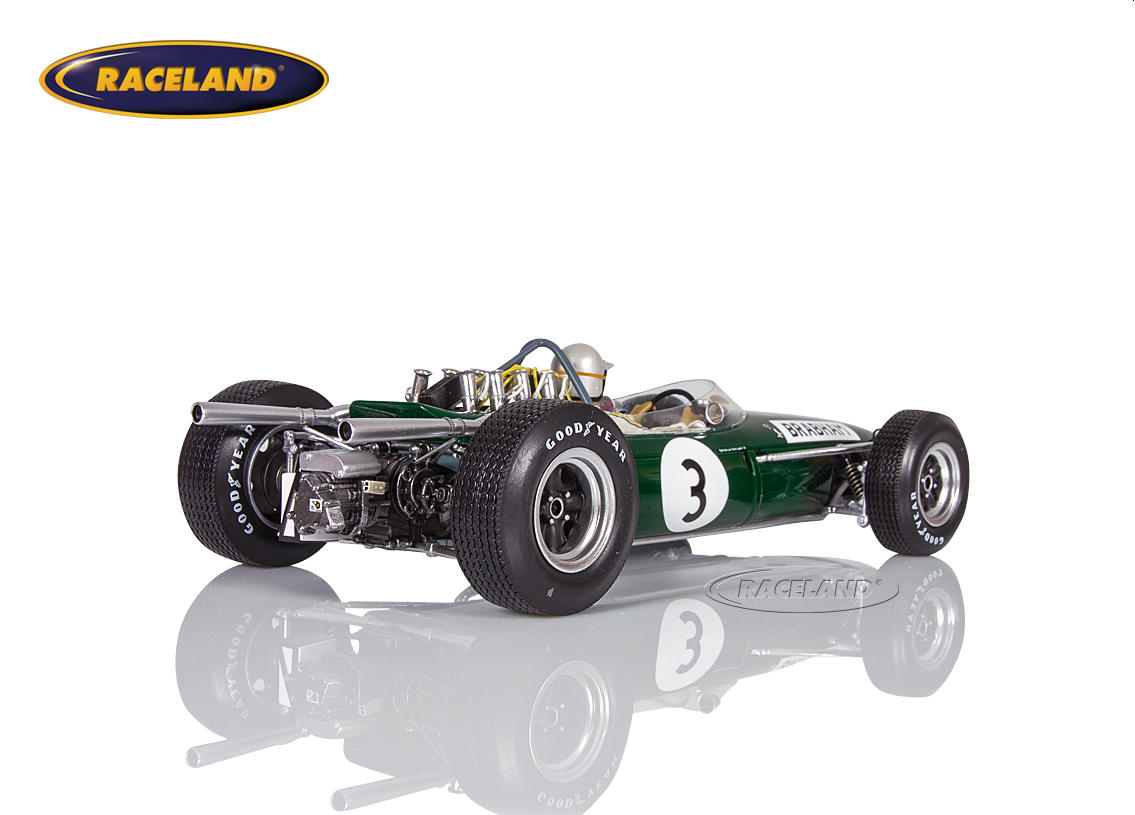 Brabham BT19 Repco V8 F1 winner German GP 1966 World Champion Jack Brabham Image 2