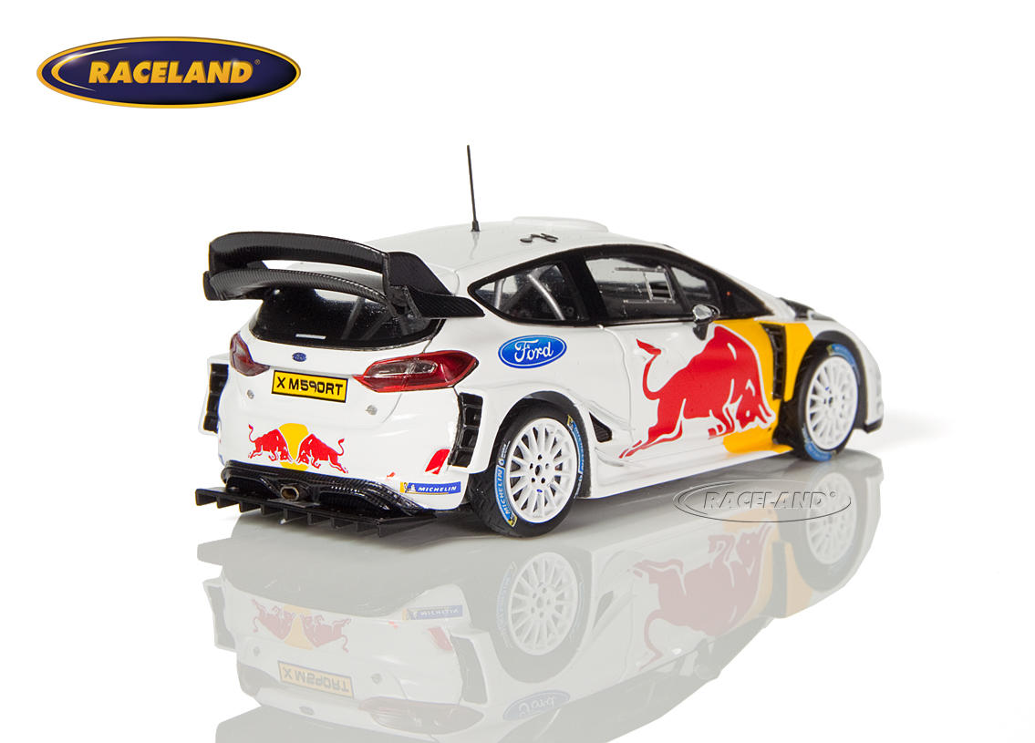 ford fiesta wrc m sport red bull wrc test car 2018 ogier ingrassia scale 1 43rd 2018 rally wrc. Black Bedroom Furniture Sets. Home Design Ideas
