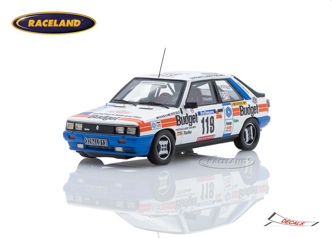Renault 11 Turbo Budget 21 Tour De Corse Rally Of France 1984 Alain Oreille Sylvie Oreille Scale 1 43rd 1980 1989 Rally Wrc Motorsports