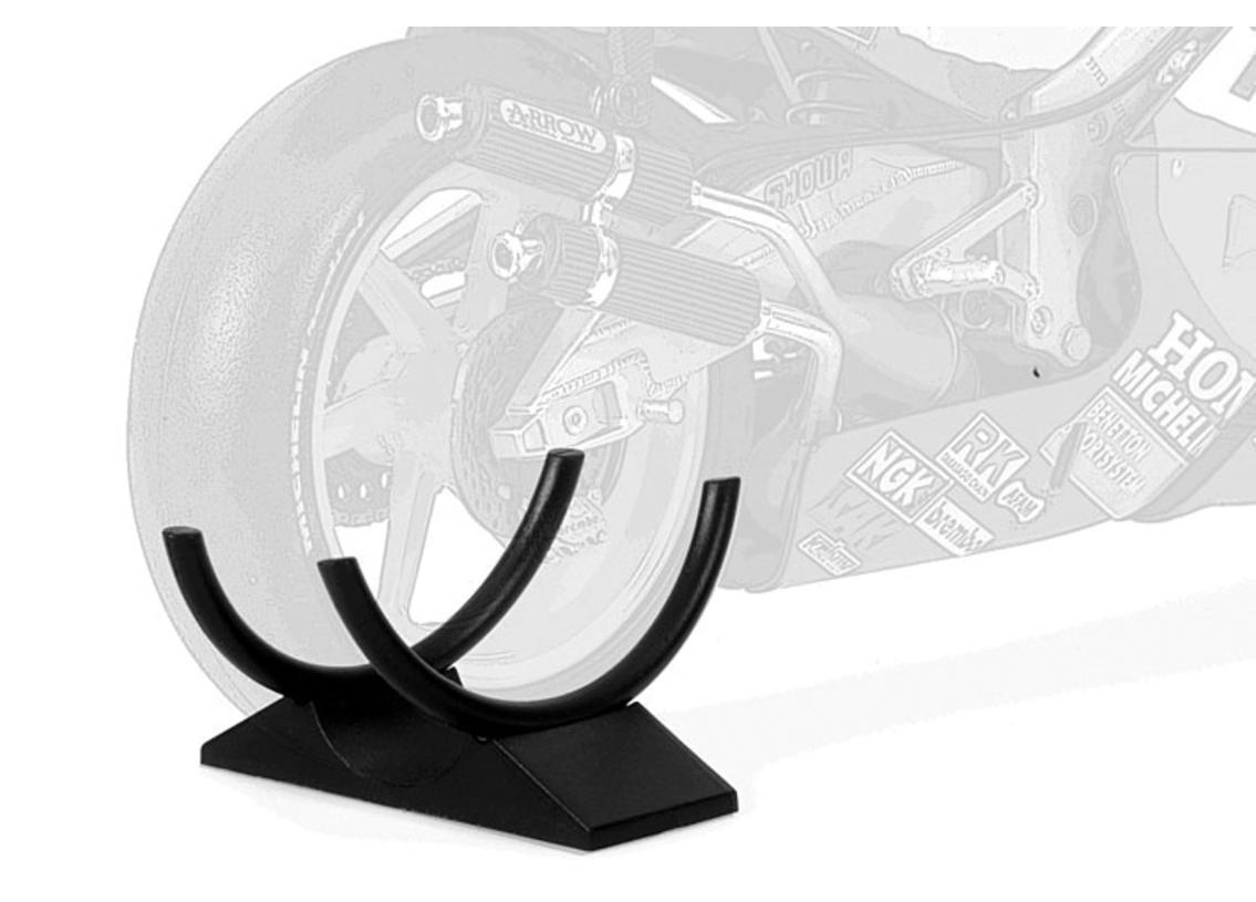 Stand for MotoGP motorbike models to hold the wide rear tyres, set of 2 pieces Image 2