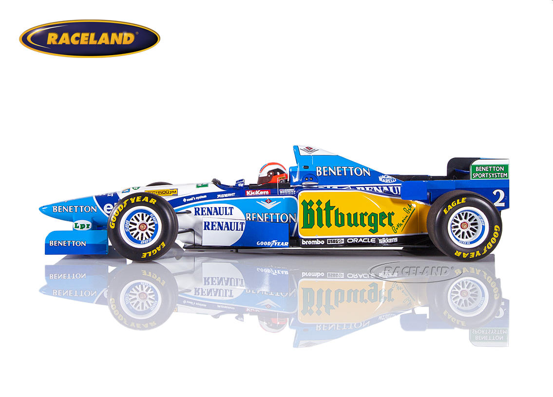 Benetton-Renault B195 V10 F1 winner British GP 1995 Johnny Herbert Image 3