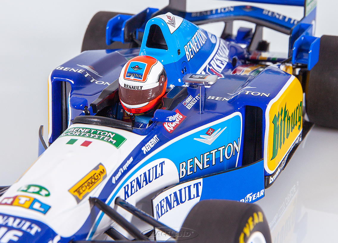 Benetton-Renault B195 V10 F1 winner British GP 1995 Johnny Herbert Image 4