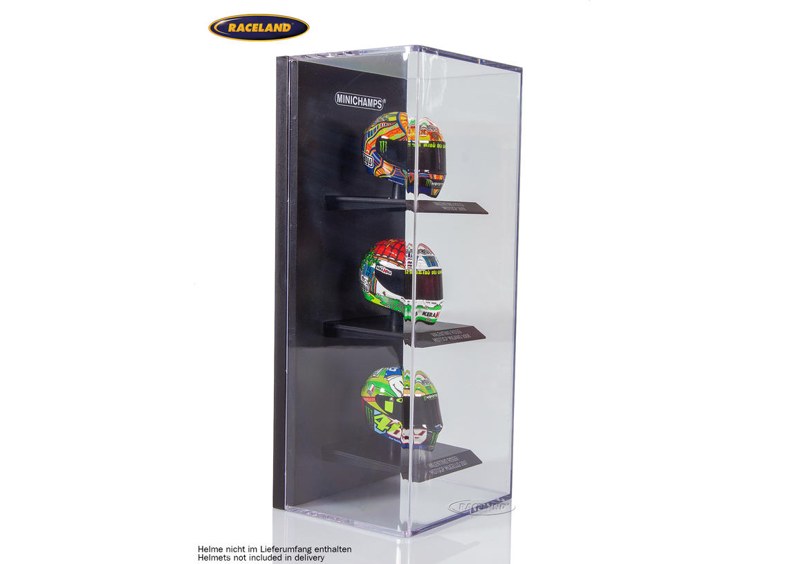 Display box for 3 helmet models Minichamps 1/10th scale Image 2