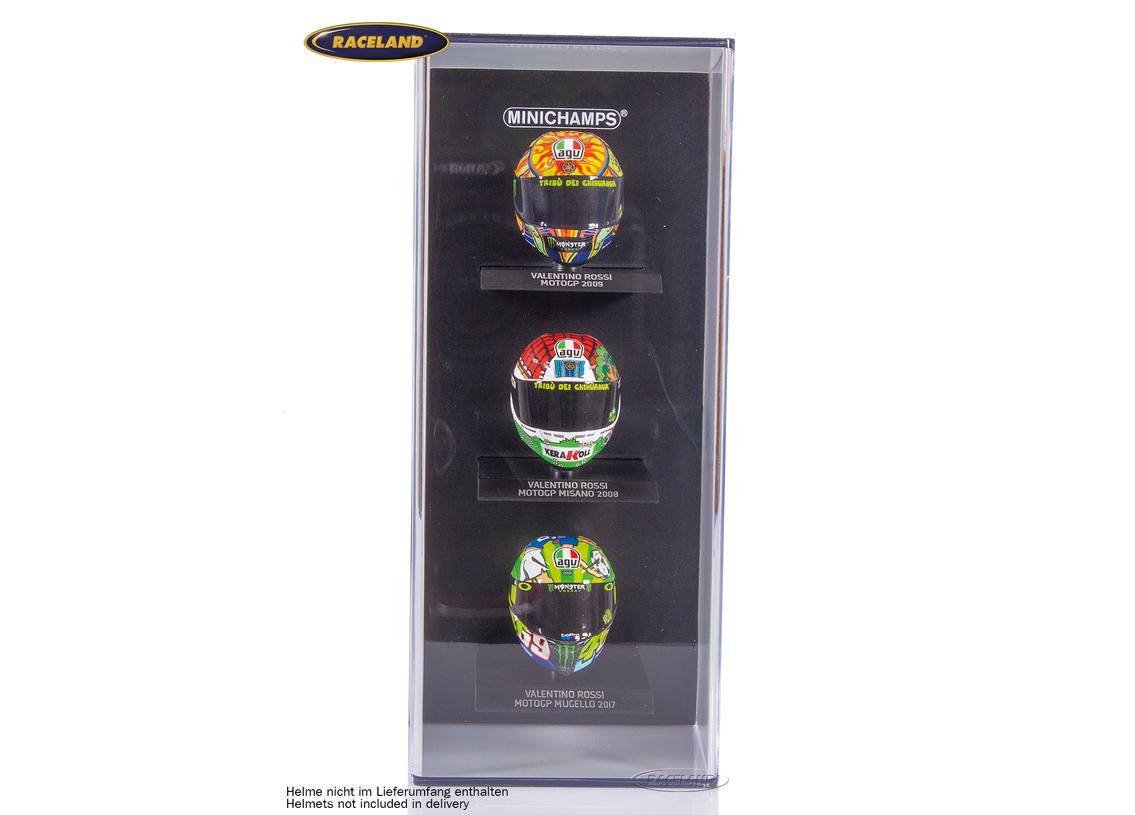Display box for 3 helmet models Minichamps 1/10th scale Image 4
