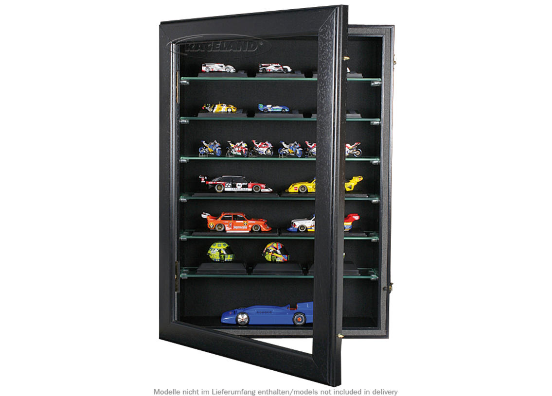 Model display cabinet M Raceland upright format 100% dustproof, color black Image 2