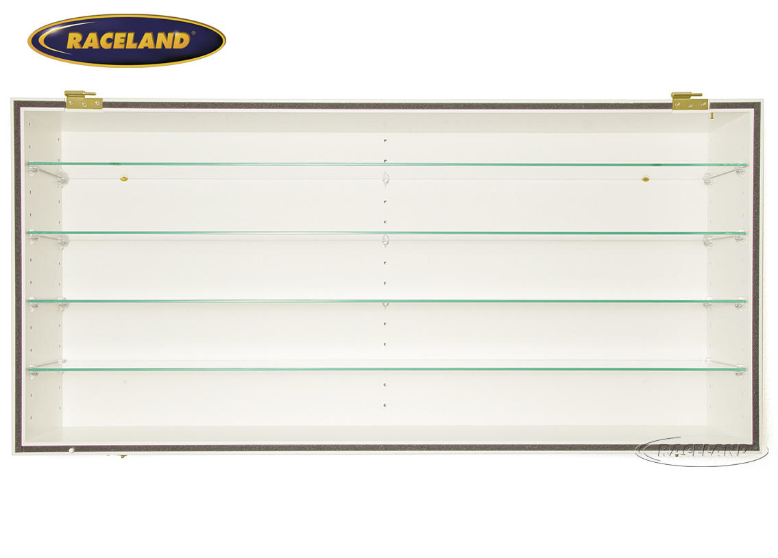 Display cabinet Raceland 100% dustproof display horizontal, color white Image 2