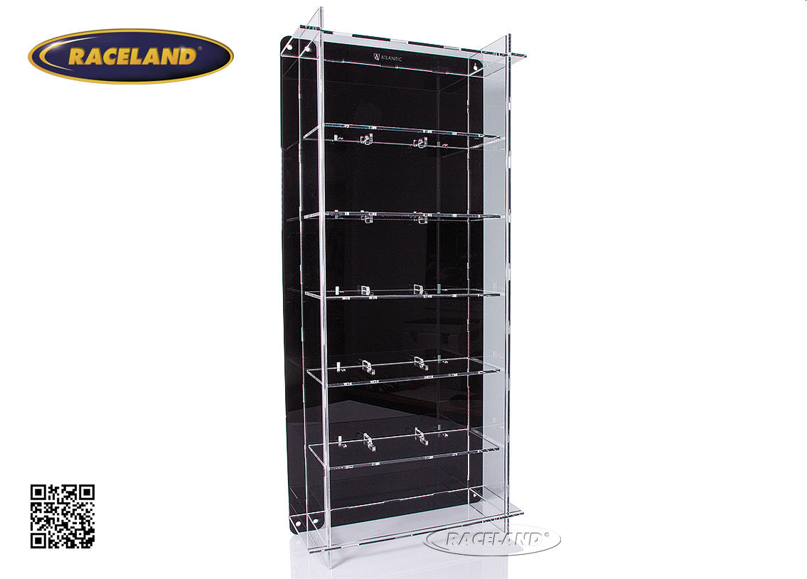 acrylic display cabinet for 6 models 1/18th scale wall mount or table