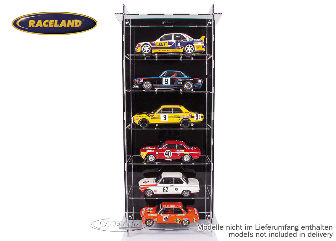 acrylic display cabinet for 6 models 1/18th scale wall mount or table Image 3