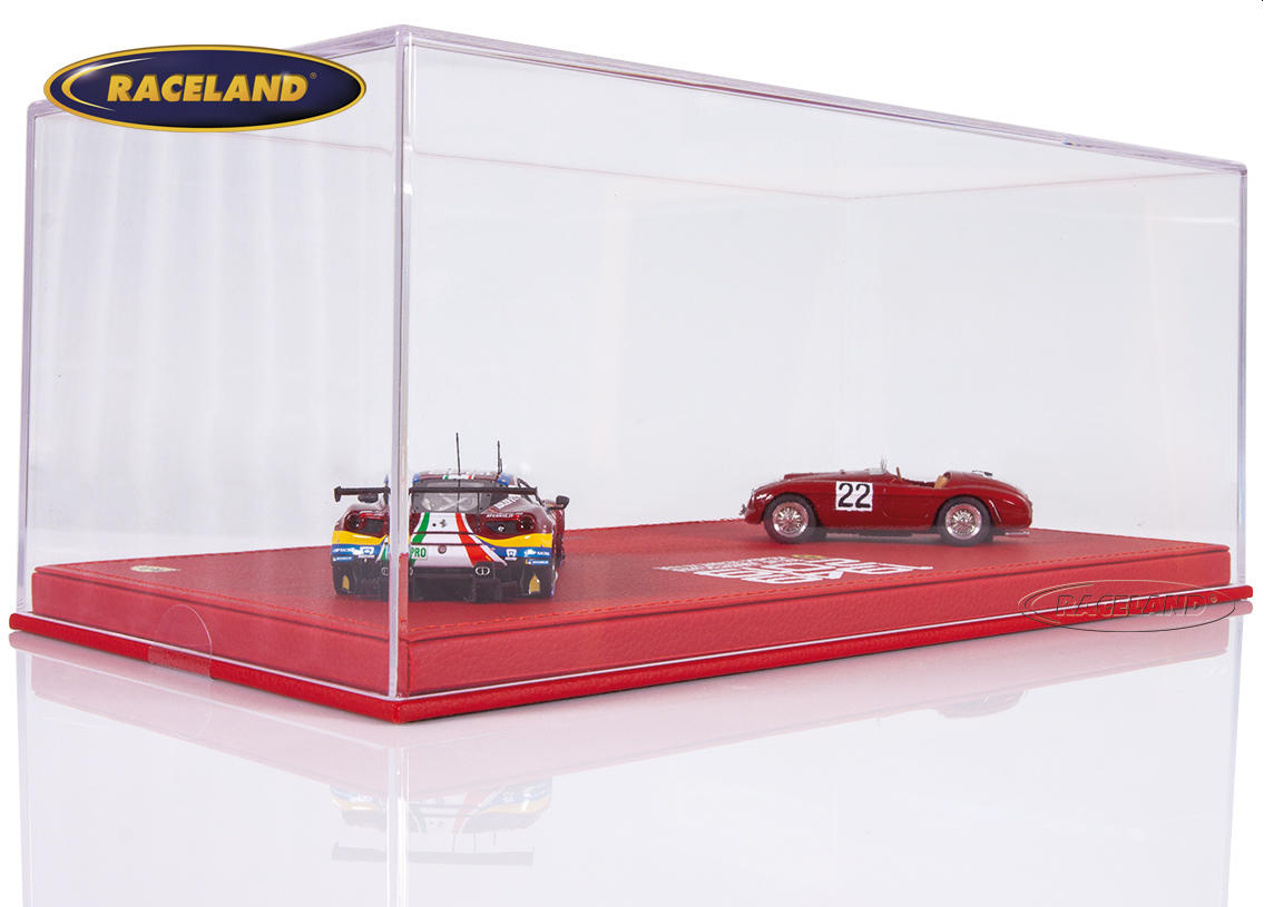 Ferrari Le Mans winners gift set 1949-2019 with 2 models 166MM and 488 GTE Evo in exclusive display box Image 2