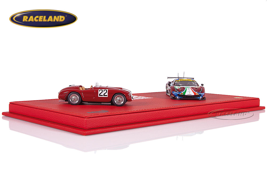 Ferrari Le Mans winners gift set 1949-2019 with 2 models 166MM and 488 GTE Evo in exclusive display box Image 3