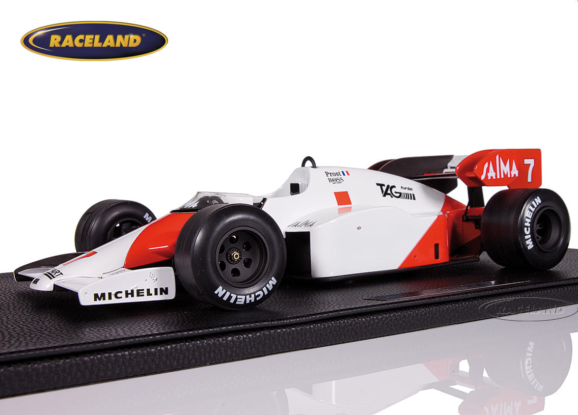 Mclaren MP4/2 TAG Porsche F1 winner Brazilian GP 1984 Alain Prost