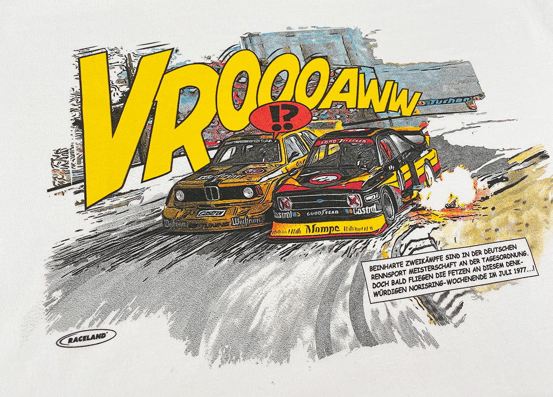 Battle of the Stone Grandstand Racing Cult Comic Premium T-Shirt Image 3