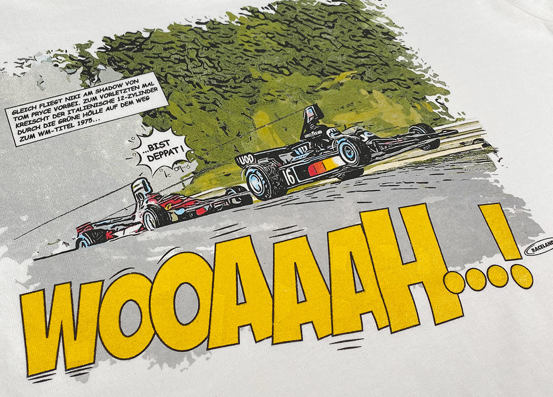 Hedgehoppers at the Ring Racing Cult Comic Premium T-Shirt Image 3