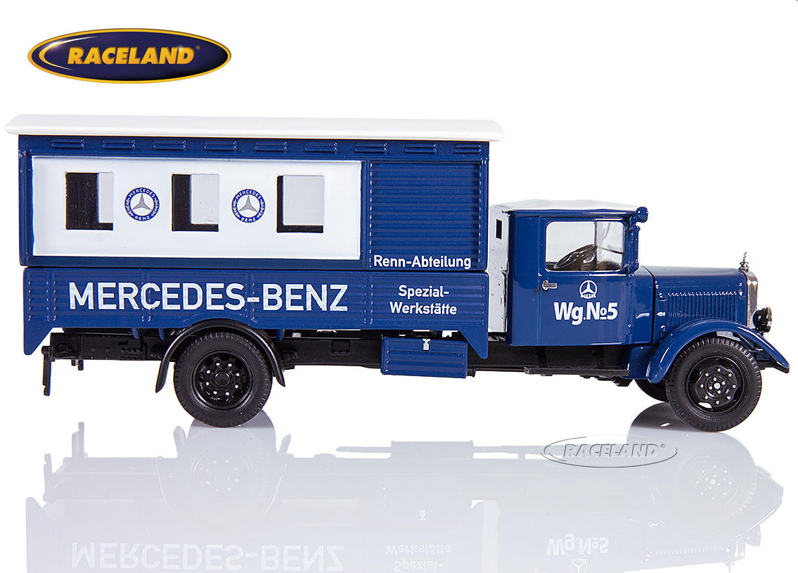 Mercedes-Benz Lo 2750 box truck Mercedes-Benz Rennabteilung 1935 silver arrows workshop truck Image 3