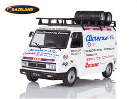 Citroen C35 box van with roof rack Rallye Service vehicle 1980-1982 Frères Alméras Eminence