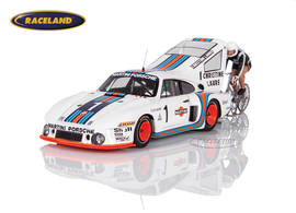 Porsche 935 Turbo Martini bicycle record attempt 1977 Henri Pescarolo, Jean-Claude Rude