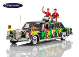 Mercedes 600 Pullman Rebellion Racing Drivers Parade Le Mans June 14, 2019 with figures