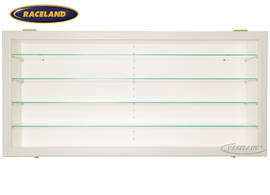 Display cabinet Raceland 100% dustproof display horizontal, color white