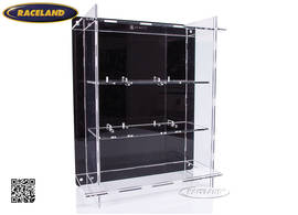 acrylic display cabinet for 3 models 1/18th scale wall mount or table display