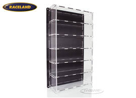 acrylic display cabinet multicase with carbon design back for 6 models 1/18th scale