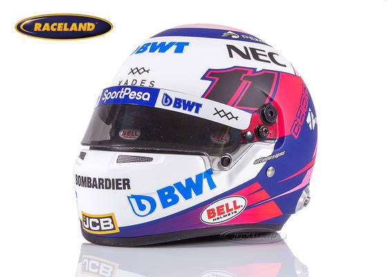 Sergio Perez Racing Point RP18 #11 Formel 1 2019 Helm 1:2 Bell