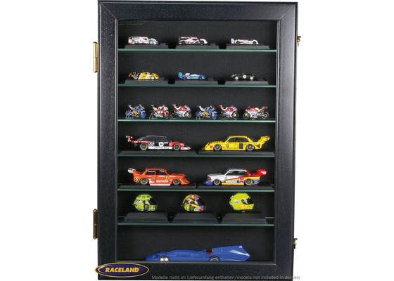 Model display cabinet M Raceland upright format 100% dustproof, color black