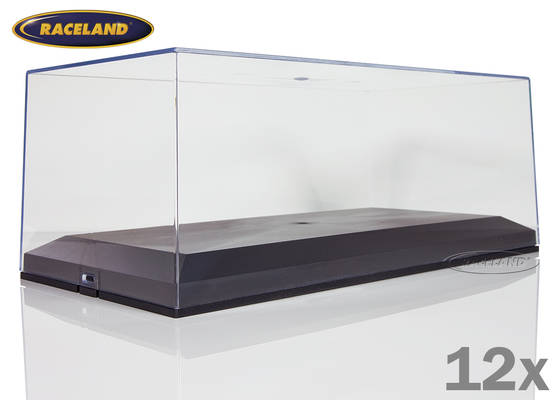 Set of 12 display boxes Raceland 1/18th scale